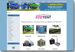 Faltpavillon Website